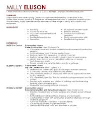 Construction Objective For Resume Construction Worker Resume Examples 17