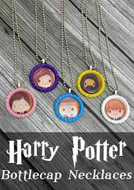 harry potter is a big thing in our house and the kids were over the moon when they saw i was printing something harry potter bottlecap necklaces
