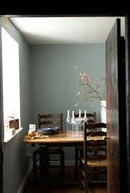 lovely grey blue with white dark chocolate via papa stour stylistsscotlanddining room
