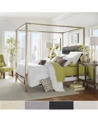New Bargains on Solivita Champagne Gold Metal Canopy Bed with ...