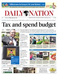 Daily Nation Friday 14th June 2013 Taxes Pastoralism
