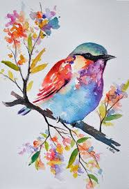 bird original watercolor