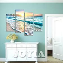 beach wall art decor seascape beach wall art canvas 4 panel sea waves landscape beach wall beach wall art