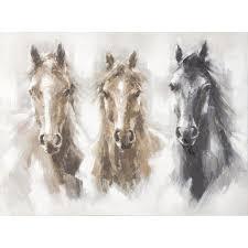 canvas painting headline horses 90 x 120cm