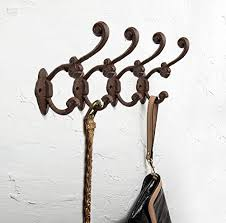 decorative rustic wall hooks shabby