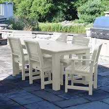 whitewash outdoor furniture. American Furniture Highwood Wilkes 7-piece Dining Set Whitewash Outdoor E