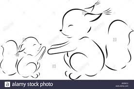 Small Picture Coloring page Vector outline drawing squirrel mom and baby Stock