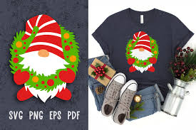 Check out our free gnome svg selection for the very best in unique or custom, handmade pieces from our papercraft shops. Christmas Gnome Svg File For Cricut Graphic By Greenwolf Art Creative Fabrica