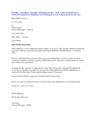 No Objection Letter Sample From Employer New Best Address For