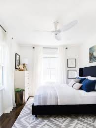 Small Bedroom Curtains Soothing White Small Bedroom Ceiling Fan With Chevron Rug Also
