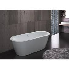 akdy 5 9 ft acrylic reversible drain oval double ended flatbottom non whirlpool freestanding bathtub