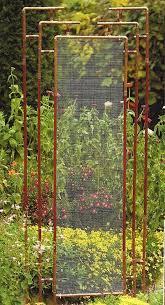 these metal garden trellises are