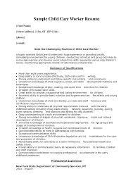 Church Nursery Worker Sample Resume Classy Resume Child Care Worker Child Care Skills Resume Child Care Resume