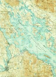 Lake Winnipesaukee New Hampshire 1909 Map