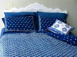 starry nights designer batik contemporary twin duvet cover blue light