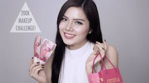 200k makeup challenge glam makeup bahasa indonesia christine sindoko you