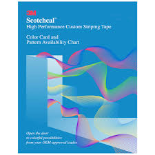 Scotchcal Striping Tape Chart Buy 3m Scotchcal Color Card 83005 1 Per Set Strobels Supply