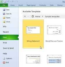 Use Templates How To Use Templates In Excel 2010 Dummies
