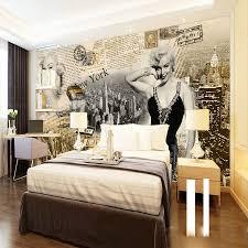 Marilyn Monroe Bedroom Furniture Sexy Goddess Superstar Marilyn Monroe Newspaper Classical 3d