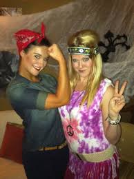 affordable costume ideas rosie the riveter and hippie easy costume rosie