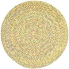 play date yellow multi 4 ft x 4 ft round indoor outdoor braided