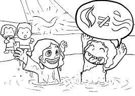 Jesus Baptism Coloring Page Luvsiteinfo
