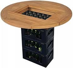 Festnight <b>Beer Crate Tabletop Teak</b> 70 cm: Amazon.co.uk: Kitchen ...