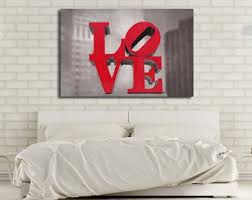 love canvas print romantic wall art love sculpture philadelphia love red  on philadelphia love wall art with philadelphia love print philadelphia photography philly love