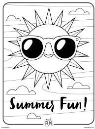 Small Picture Free Printable Coloring Page Summer Fun Honest to Nod