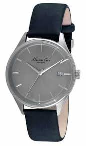 kenneth cole watches official uk retailer first class watches kenneth cole mens black leather strap grey dial kc10029304