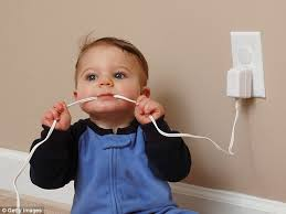 Electric sockets are alluring to children as they can't resist poking their  fingers in