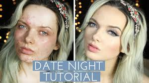 mypaleskin s acne date night makeup tutorial