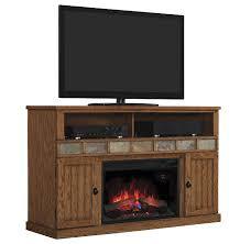 margate oak electric fireplace media center
