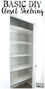 building closet shelves wood closet shelf with hanging rod amazing how