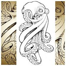 Small Picture cool octopus I whipped up for a client tattoo technique
