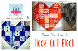 Heart Quilt Block Tutorial - YouTube & Heart Quilt Block Tutorial Adamdwight.com