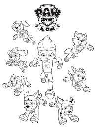 Rocky, marshall, chase and ryder. Free Paw Patrol Coloring Pages Happiness Is Homemade