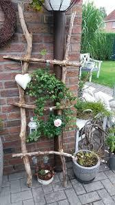 Leiter aus Zweigen hausgemacht | Vorgarten ideen, Vorgarten, Garten pflanzen