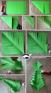 Christmas Tree In Chart Paper Diy Paper Christmas Trees Diy Paper Christmas Tree