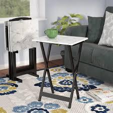 Decorative Tv Tray Tables Andover Mills Reitman 100 Piece TV Tray Set Reviews Wayfair 75