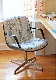 office chair reupholstery. 33 Designer-Worthy DIYs For A Polished Home. Office Chair MakeoverChair ReupholsteryUpholster Reupholstery E
