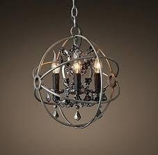 smoke crystal chandelier style orb smoke crystal chandelier diam restoration hardware welles smoke crystal round chandelier
