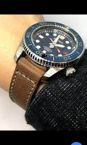 lemer hand stitched leather watch bands strap included buckle size 22mm 20mm for seiko and apple watches