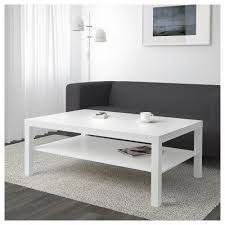 ... Coffee Table, Attractive White Rectangle Minimalist Laminated Wood IKEA  Lack Coffee Table With Storage Design