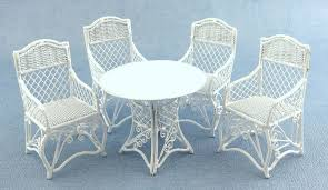 Dolls House Miniature Garden Furniture White Wrought Iron Most