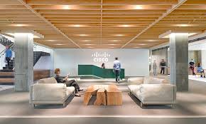 Lobby office Minimalist Cisco San Franciscou2026 Officelovin The 15 Coolest Startup And Tech Office Receptionslobbies Officelovin