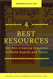 ra bulletin boards the 4 best resources for ra bulletin boards and flyers honeybee joyous