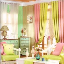Modern Curtain Panels For Living Room Yellow Green Modern Curtain Panels For Living Room