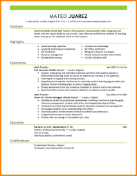 12 Teacher Resume Sample Foot Volley Mania