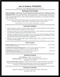 Formats Of A Resume Gorgeous Sample Resume For Radiologic Technologist R Resume Samples Radiology
